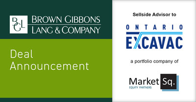 Brown Gibbons Lang & Company (BGL) is pleased to announce the sale of Ontario Excavac Inc. (Ontario Excavac), a Market Square Equity Partners portfolio company, to an undisclosed North American infrastructure investor. BGL's Environmental & Industrial Services investment banking team and its Global M&A partner, Crosbie & Company Inc., served as the exclusive financial advisors to Ontario Excavac in the transaction. The specific terms of the transaction were not disclosed.