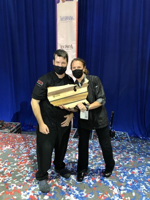 Chef Denise Herrera and Sous Chef Eric LeBlanc of Red Heat Tavern Place Second at Great American Seafood Cook-Off 2021 in Louisiana