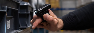 The wearable RS60 Ring Scanner is a comfortable hands-free scanning solution for use in warehouses, retail, distribution and other situations requiring highly mobile scanning.