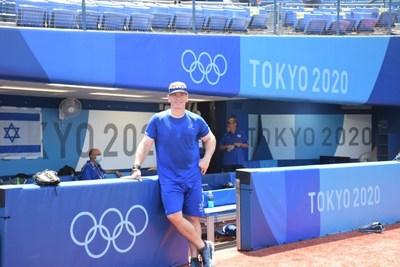 Physical Therapist Dan Rootenerg at Tokyo Baseball Field