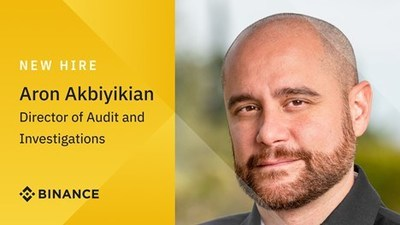 Director of Audit and Investigations Aron Akbiyikian (PRNewsfoto/Binance)