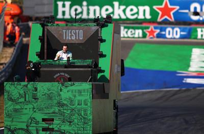 Heineken® and TIËSTO celebrate the return of Formula 1® to Zandvoort, with a unique performance live streamed directly from the track from the F1 Heineken Dutch Grand Prix (PRNewsfoto/Heineken)