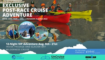 UnCruise Adventures collaborates with IRONMAN Alaska 2022 and Travel Juneau for exclusive VIP adventure cruise post-race. Athletes and guests save $250 per-person, plus travelers can enter for a chance to win one cabin onboard the exclusive 12-night adventure for August 9-21st 2022. uncruise.com